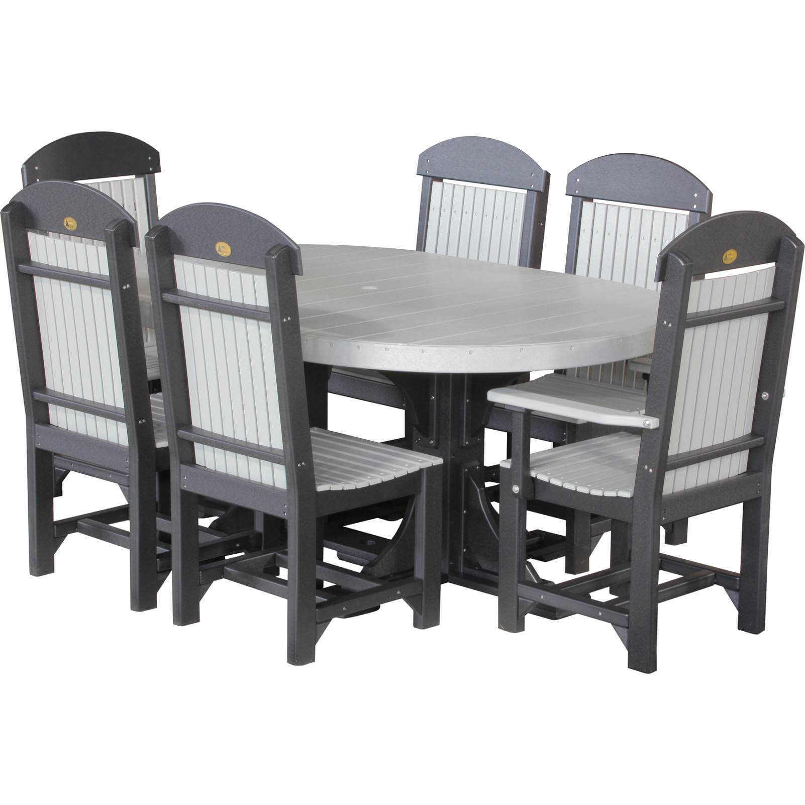 LuxCraft Poly 4x6 Oval Table Set · Hostetler s Furniture