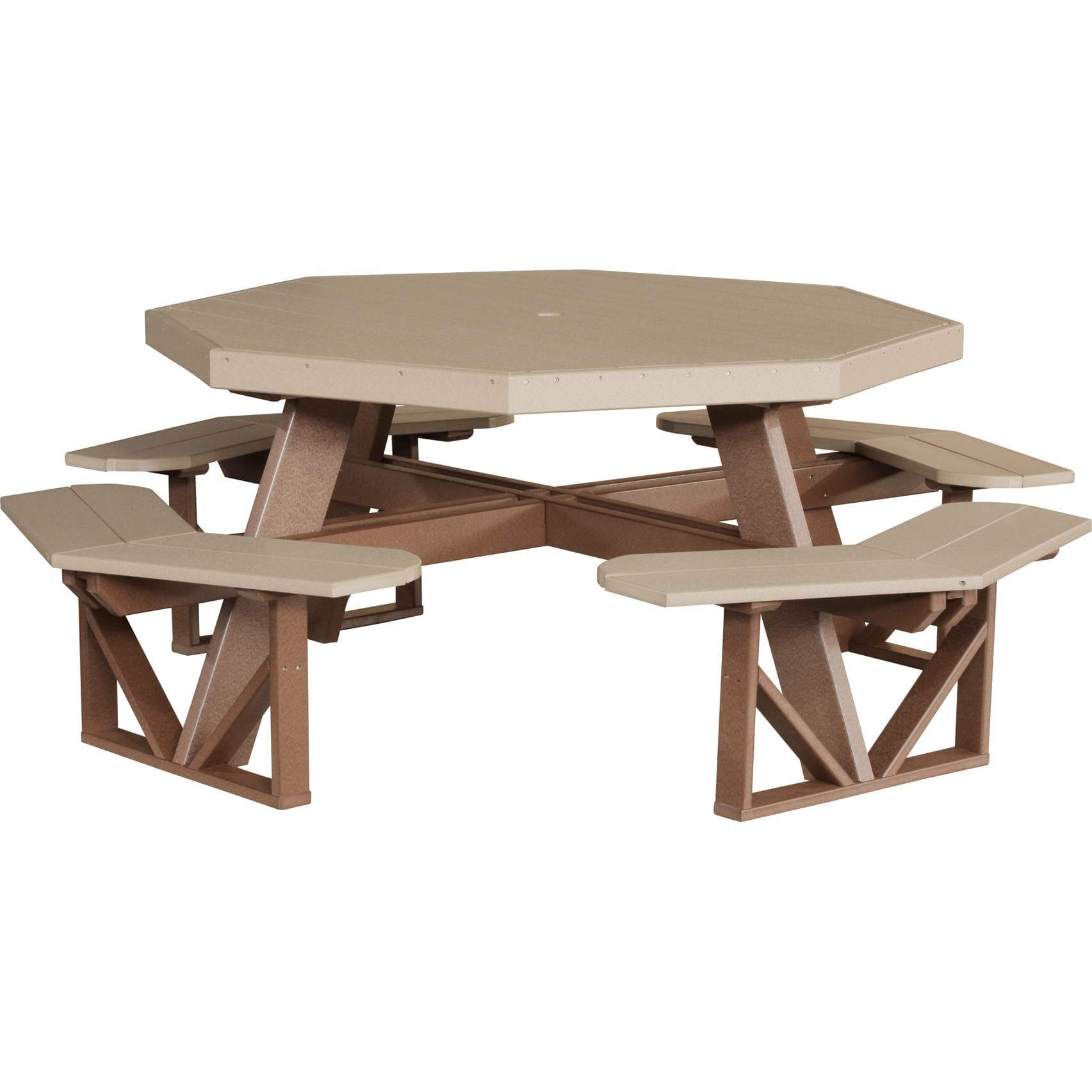 LuxCraft Poly Octagon Picnic Table · Hostetler s Furniture
